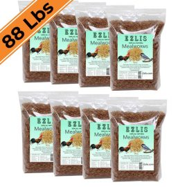 88 LBS dried mealworms Ezlis