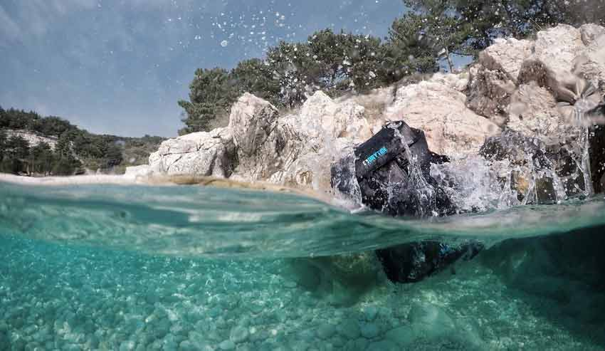Waterproof Backpack Drop in Into The Sea