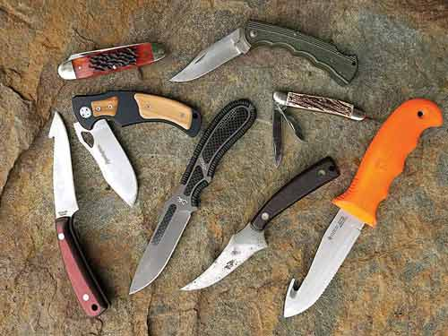 Hunting knife collection